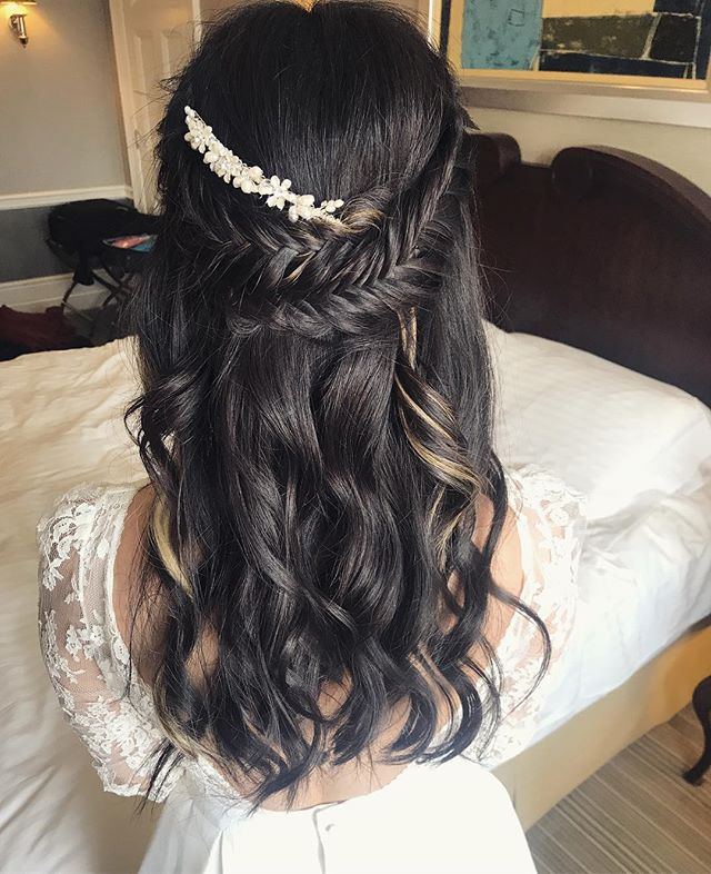 🌿 F I S H T A I L  H A I R 🌿 Beautiful, intricate and not super 'bridal'... What's not to love? 💓 . . @beyouweddings #beyouweddings #beyoubrides #modernbride #londonbride #londonwedding #weddingmorning #hairstyle #fishtailbraid #intricatehair #halfuphairstyle #brunettebride #brunettehairinspo #bridehairstyles #bridalhairideas #blondehighlights #bohohair #chichair #chicbride #bridalhairstylist #weddinghair #weddinghairstylistlondon #weddinghairstylistkent #weddinghairandmakeupartist #kentweddingsupplier #londonweddingsuppliers #weddingfun #weddingbusiness #mybride