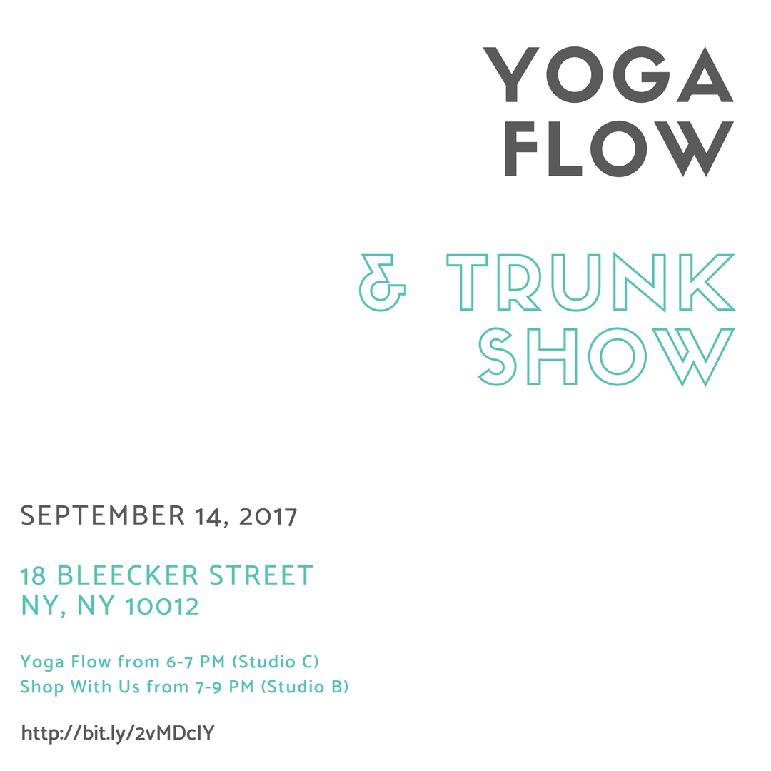 Come breathe with us at our first yoga flow, followed by shopping, snacks and meeting the team! -