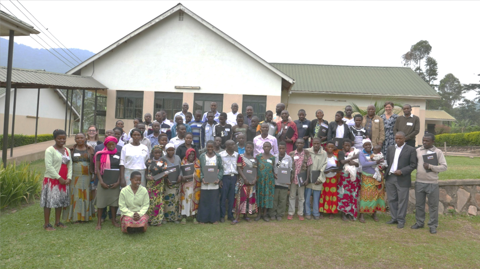 Group photo of workshop participants and facilitators, Uganda Nursing School Bwindi, Buhoma.
