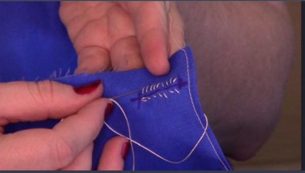 Basting stitches…sort of…