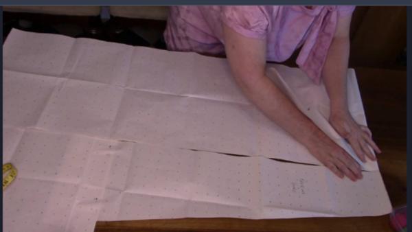 I fold the main piece top down