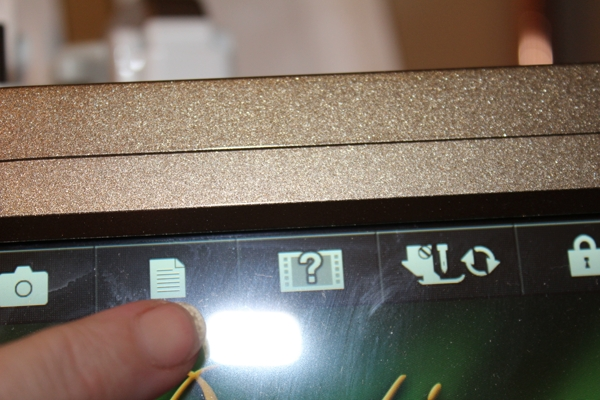 Setting screen button