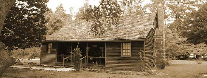 The Shaw House , built circa 1820, in Southern Pines, NC. Photocredit: Moore County Historical Association