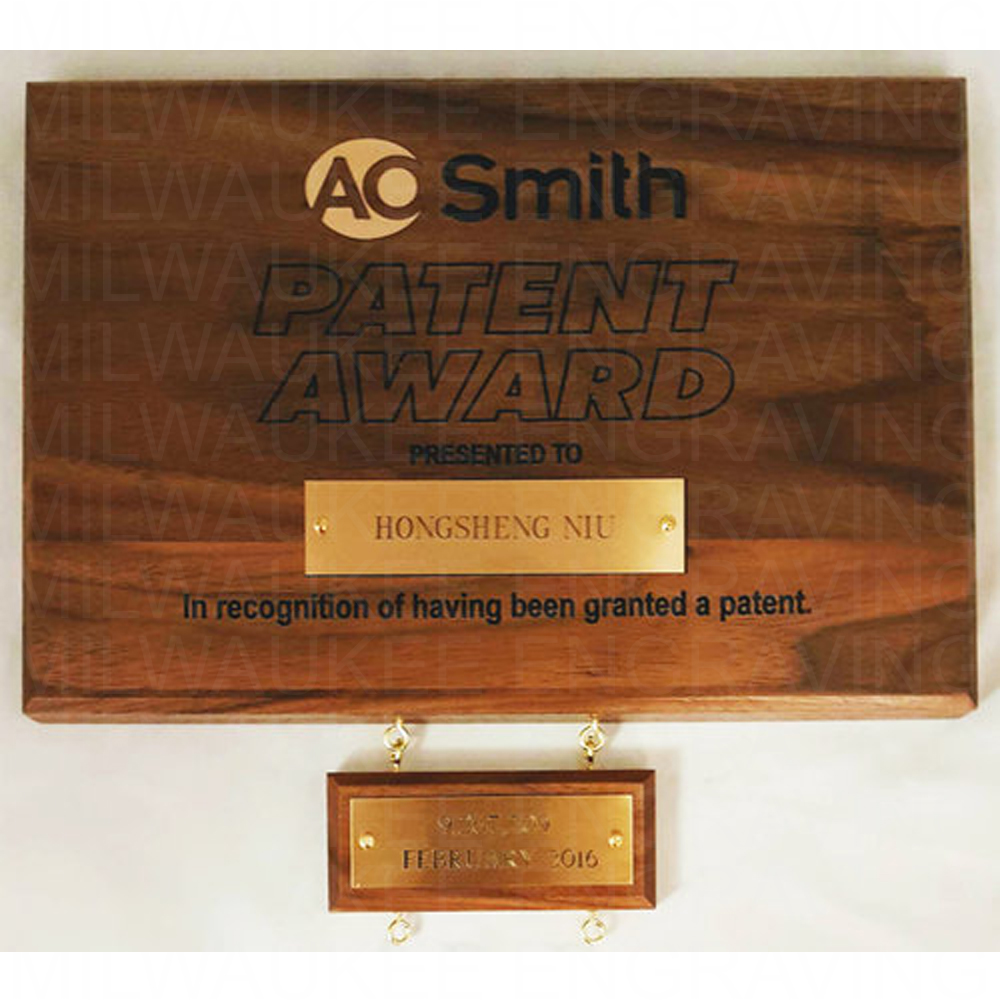 engraved wooden plaque
