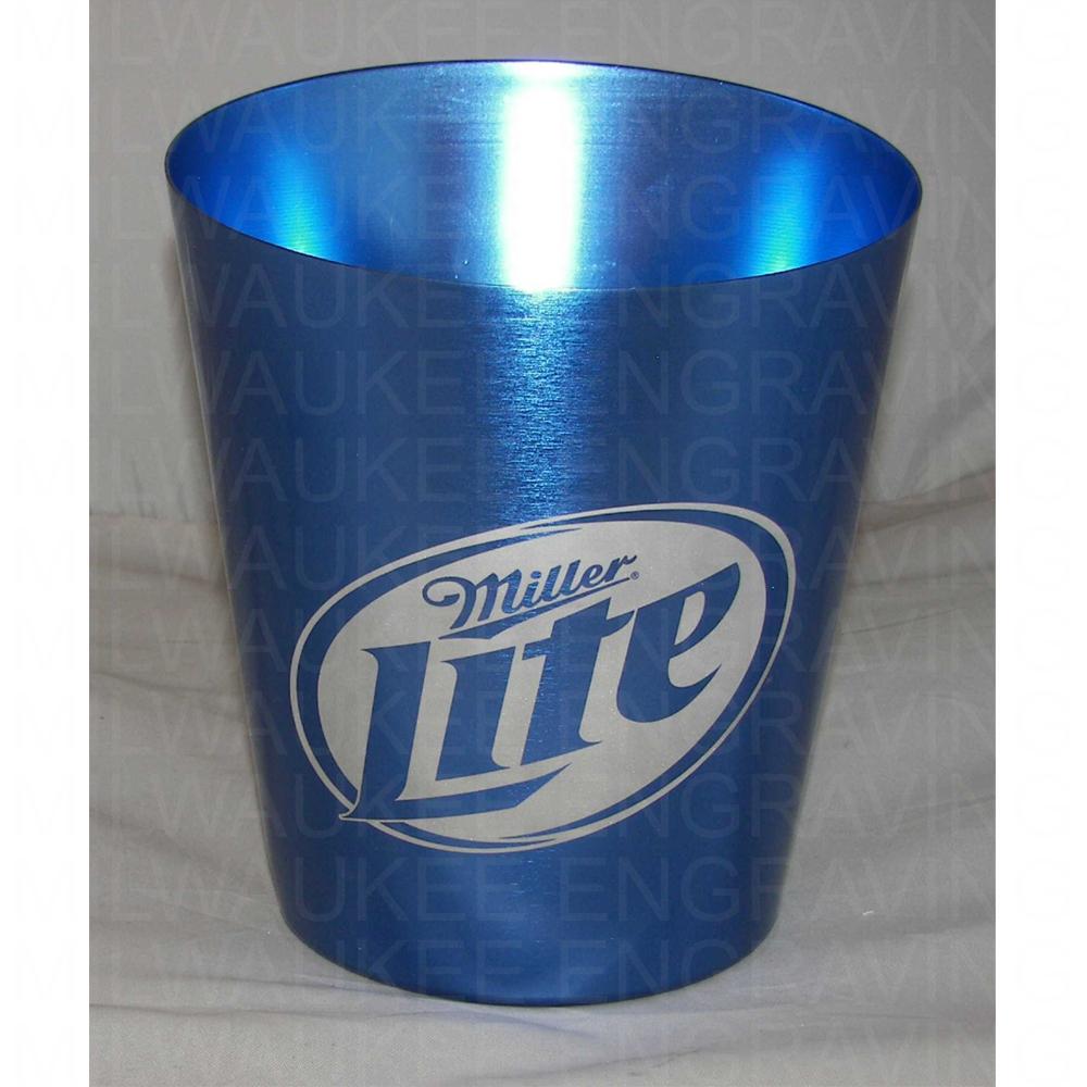engraved Miller Lite cup