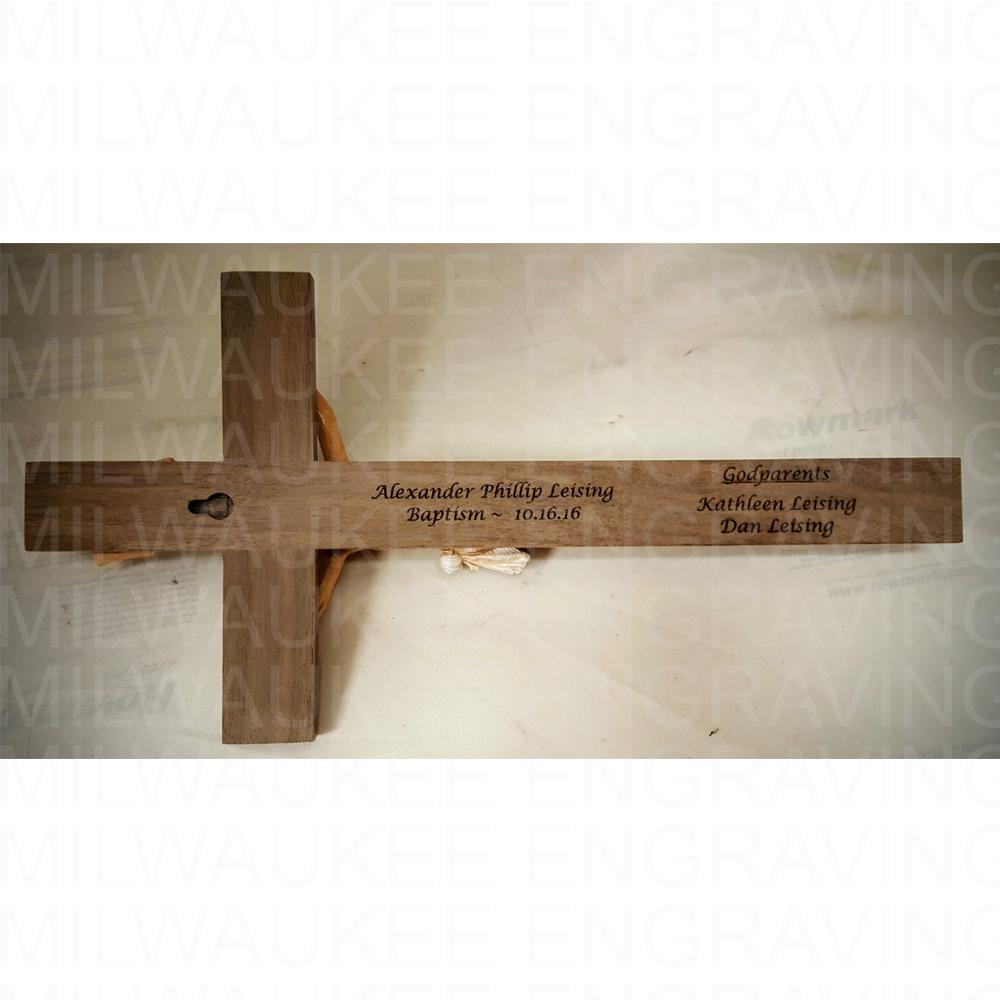 religious engraving, cross, bible, religion, custom engraving, engraver, milwaukee