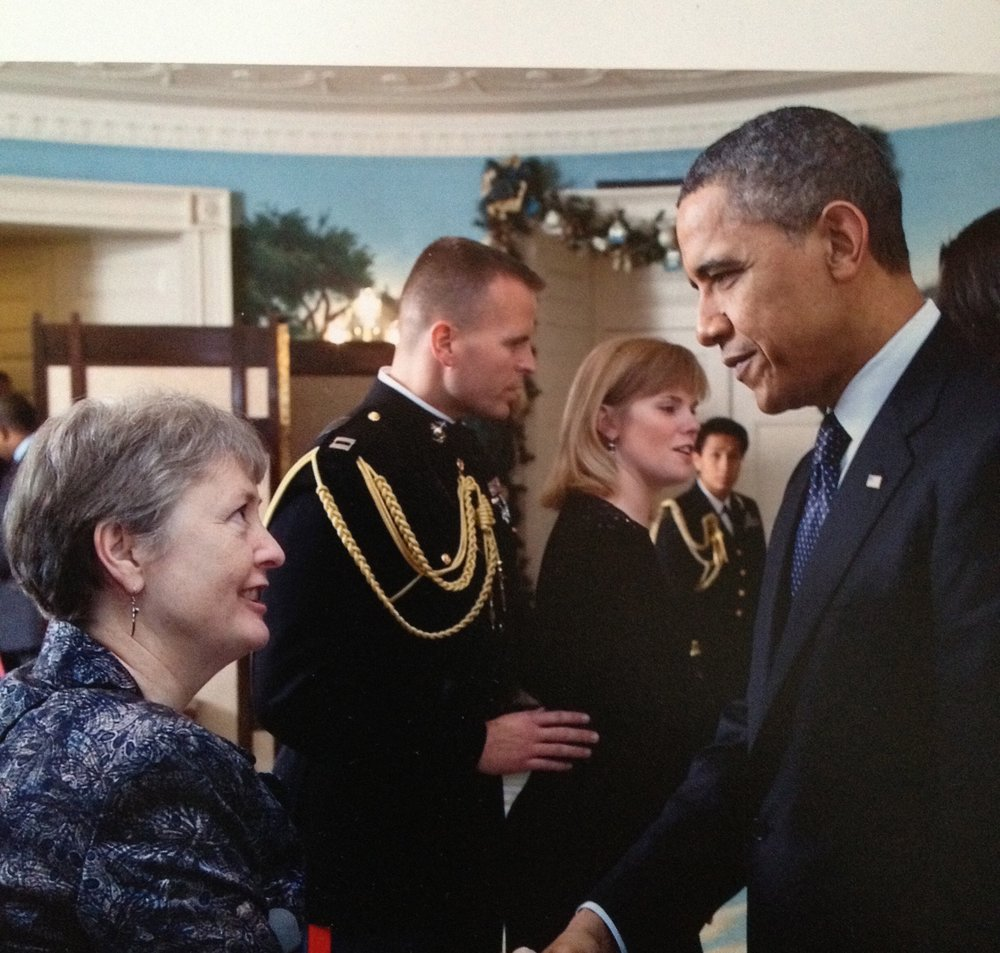 Deb with President Obama