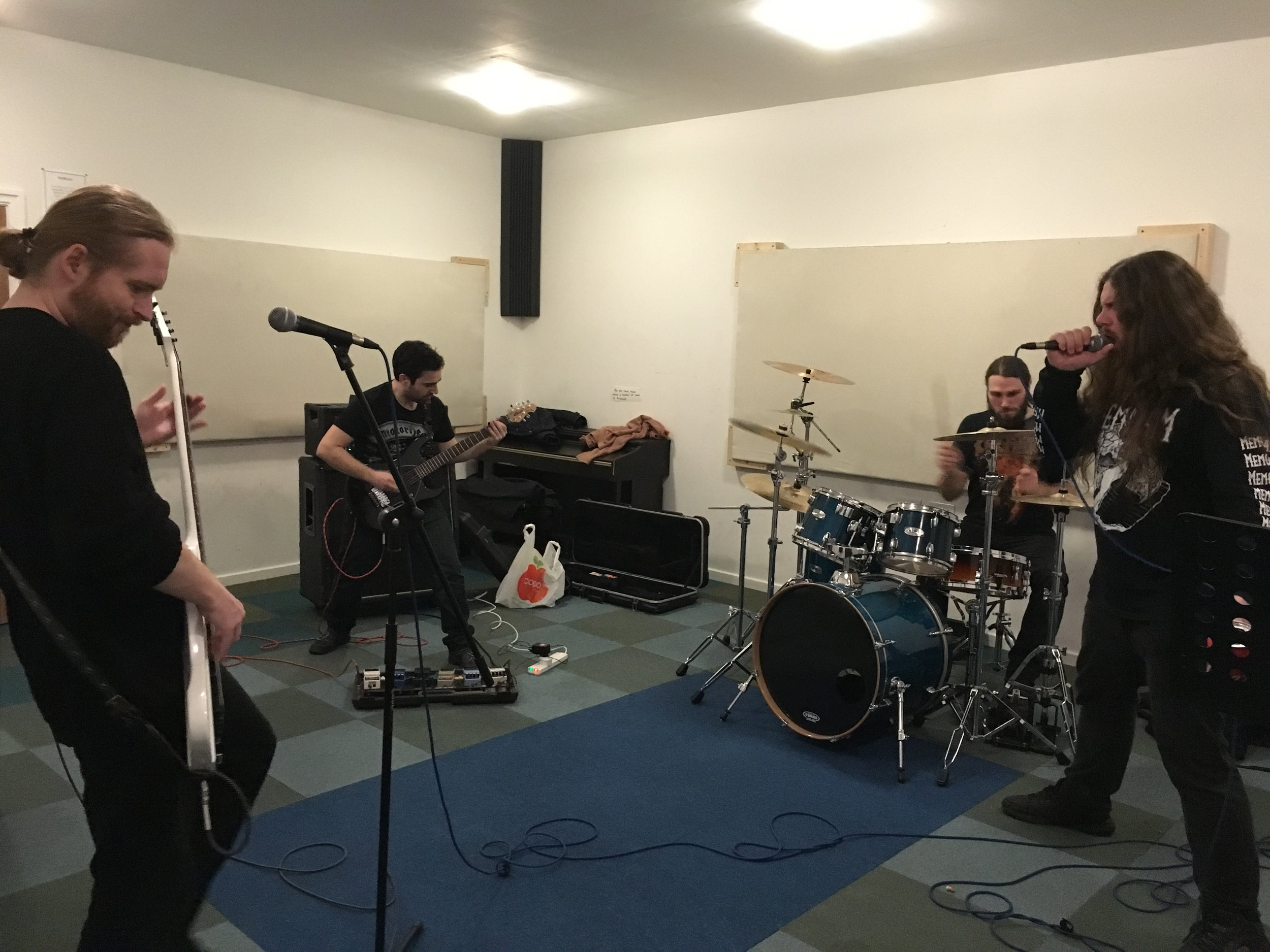 Stormrider rocking out in Practice Room 1