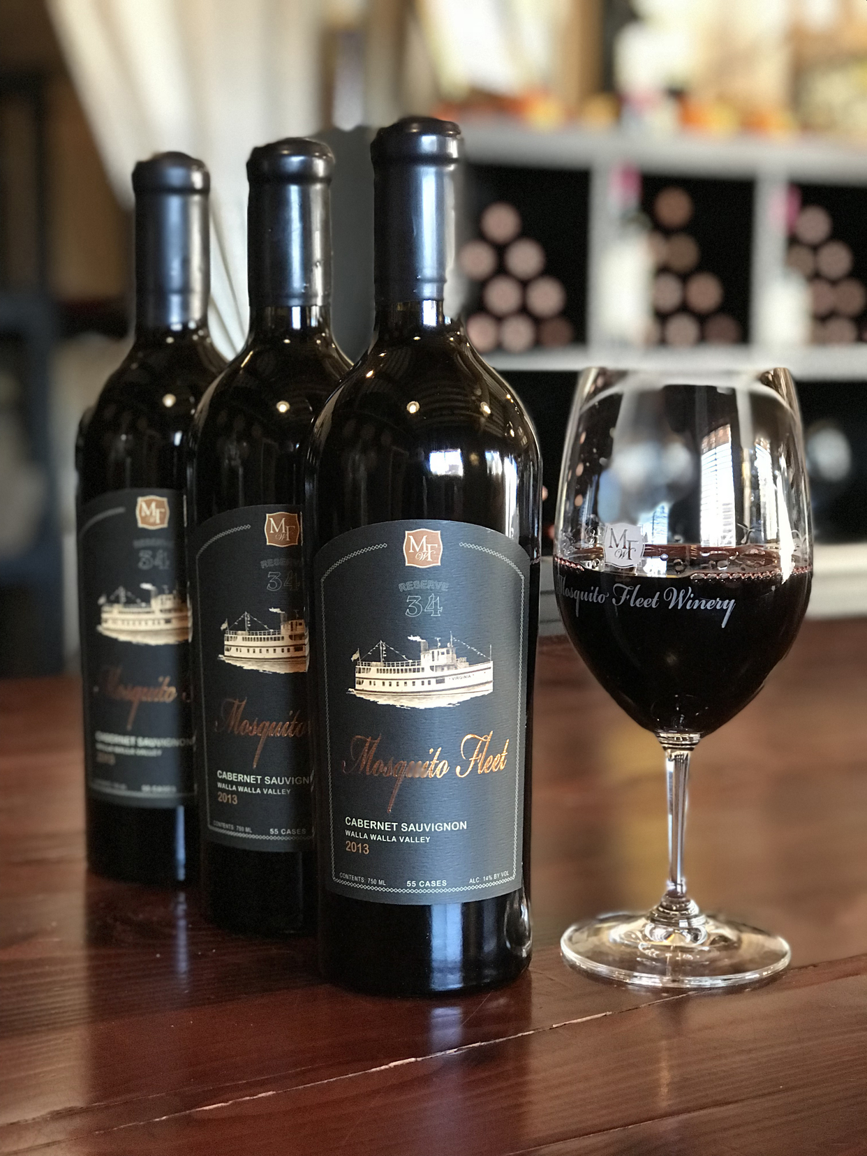 3.  Mosquito Fleet Winery  2013 Reserve 34 cabernet sauvignon , Walla Walla Valley,  $90 : An extraordinary wine from a tiny producer in Belfair.
