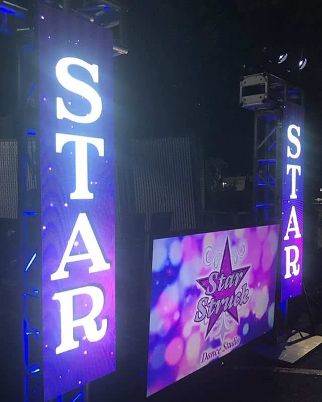 Our LED Wall can be broken down into many different looks. Last night we used only 4 panels to showcase @starstruckdanceny studios name during their event! #e2djs #esquareddjs #welovee2dj #ssds #starstruckdanceny