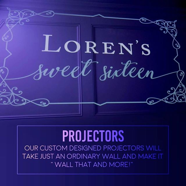 """Our custom designed projectors will take just an ordinary wall into """"WALL that & more"""" 💙 #E2DJ"""