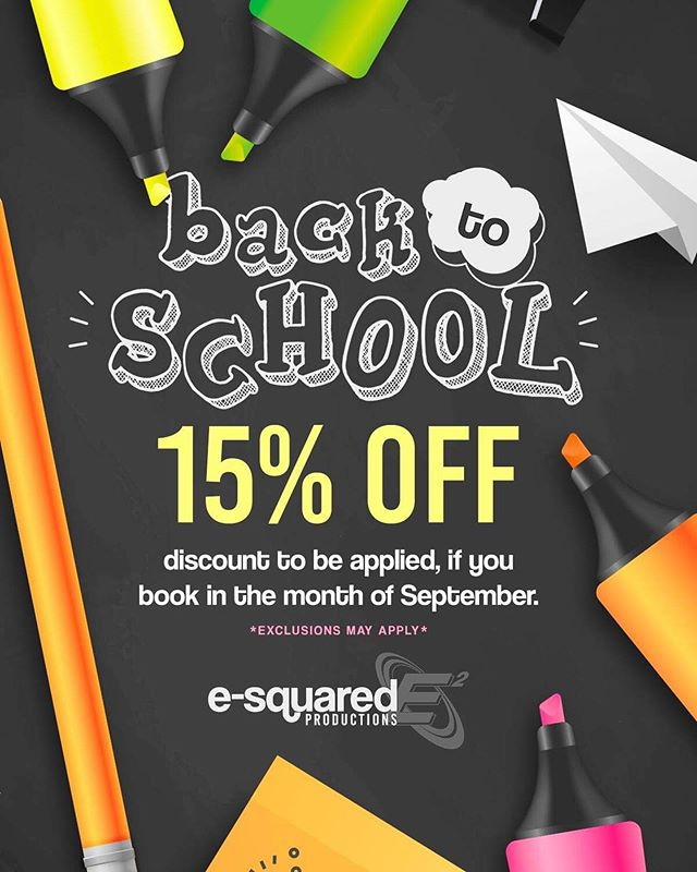 Some dread going back to school more than others but here's a deal sure to make everyone happy! Our 15% off 'Back to School' deal! #e2dj