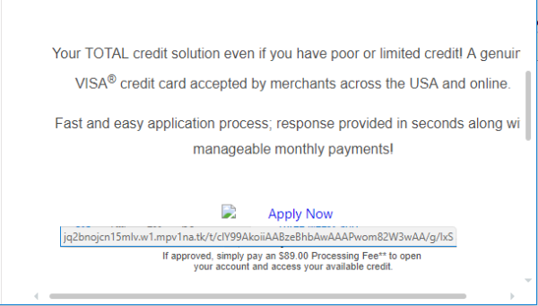 """When I hover over """"Apply Now,"""" does that link look like something VISA would use?"""