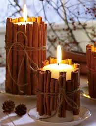 Cinnamon Stick Pillar Candles
