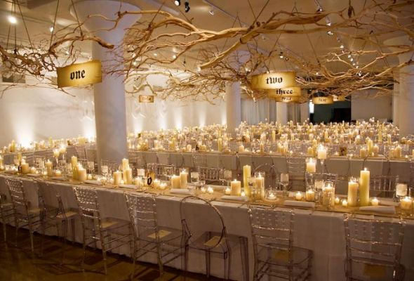 Candles, Candles, Candles - Elegant Wedding in a Ballroom.