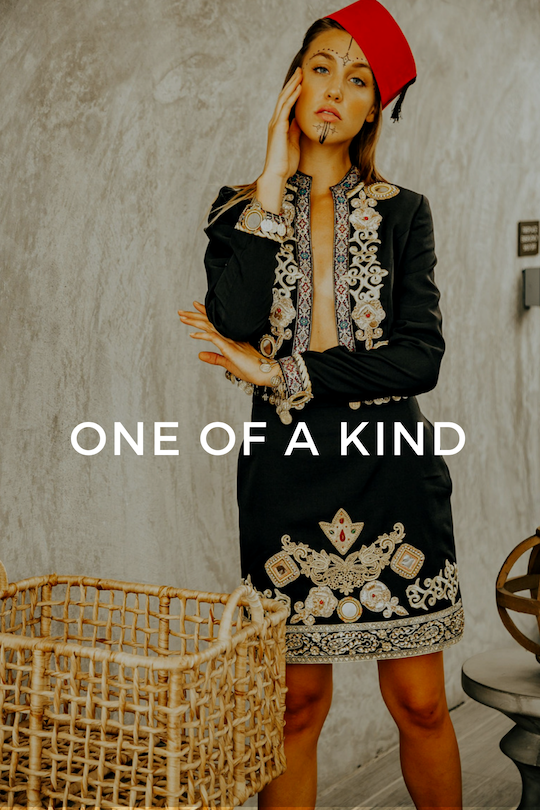 Click here to shop for Mina Binebine's One of a Kind collection, Moroccan-inspired clothing.