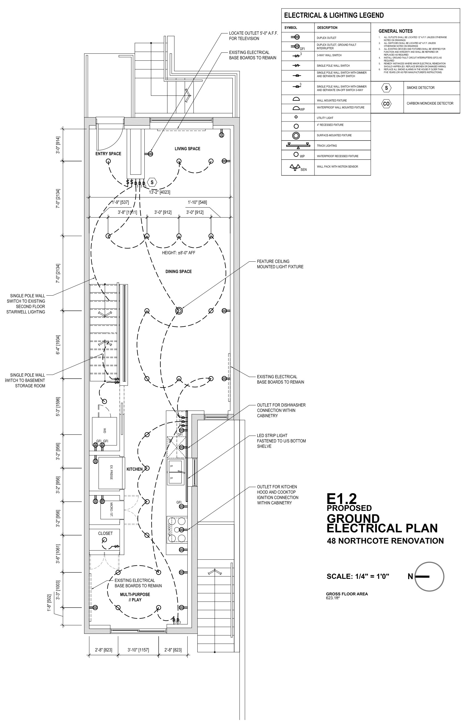 Drawing, Plan, Ground Floor Electrical