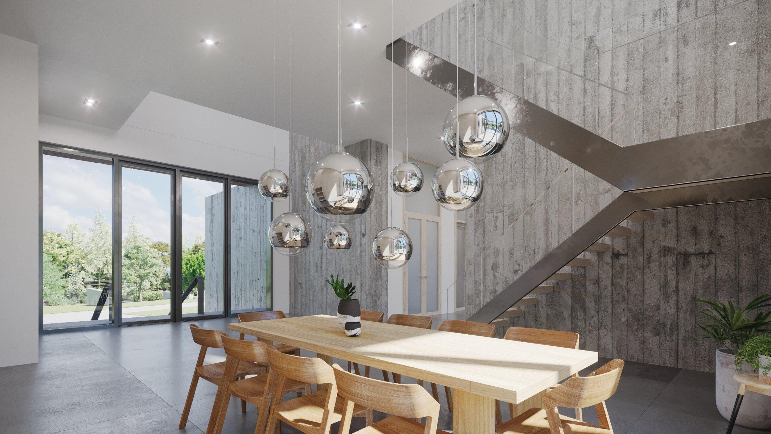 Render, Interior, Dining Room