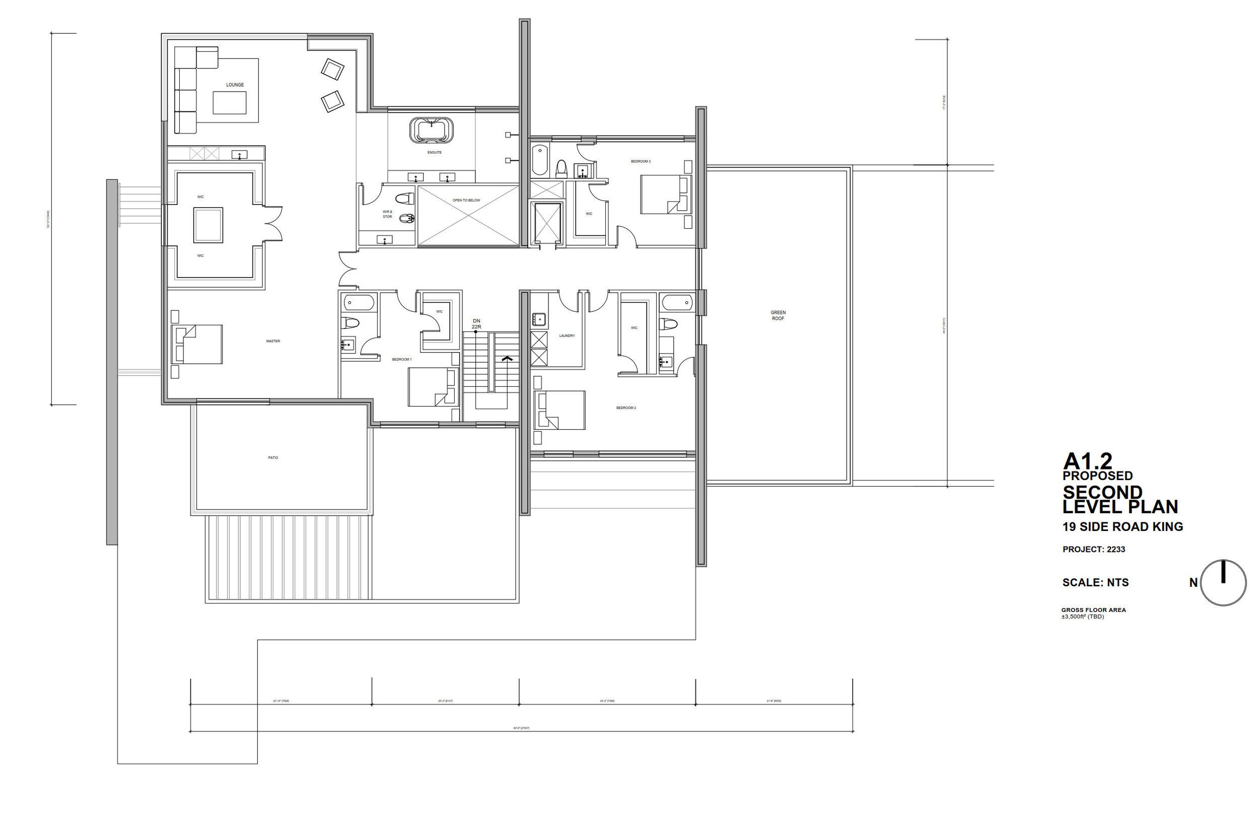 Drawing, Plan, Second Floor