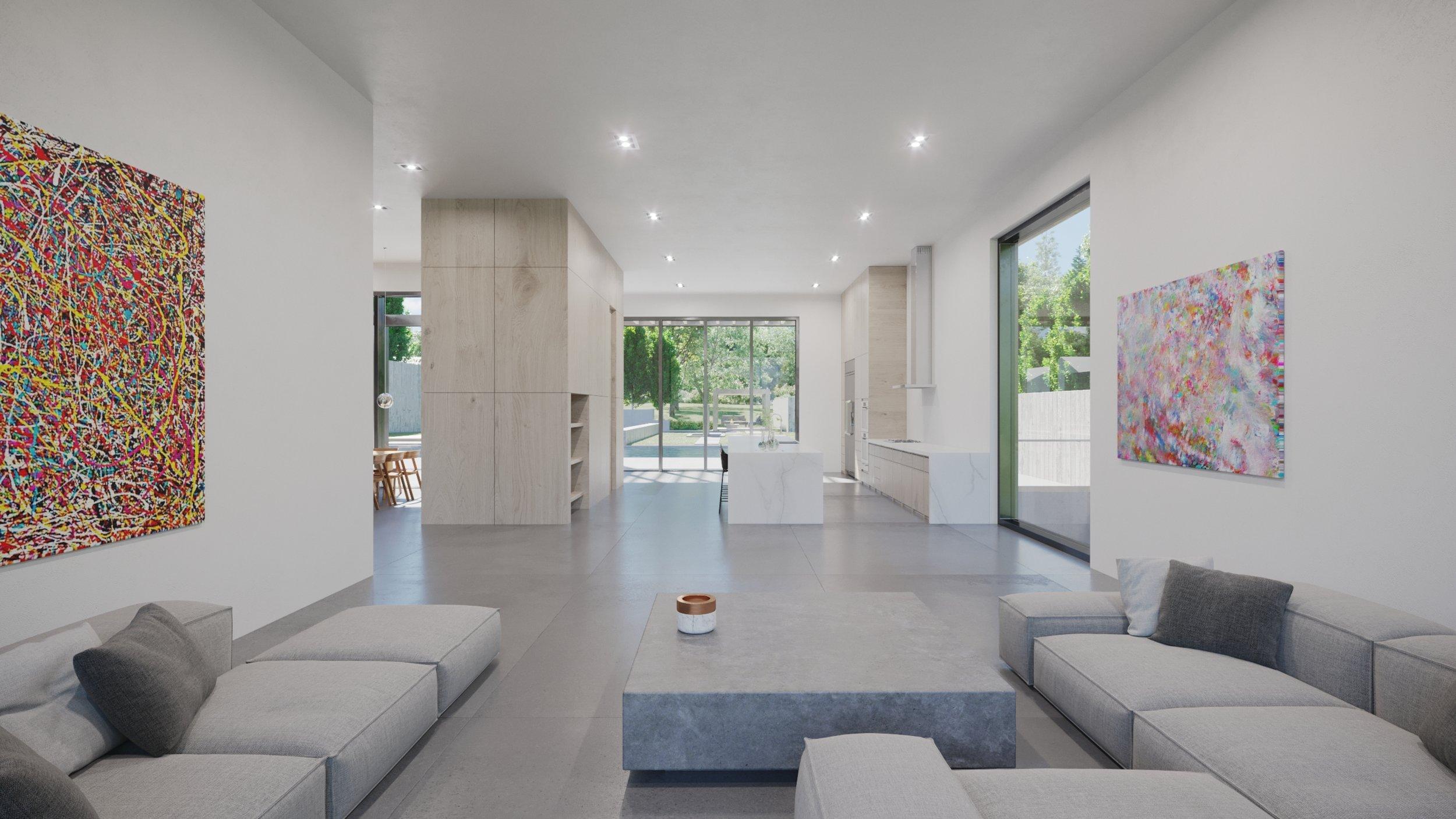 Render, Interior, Living Room