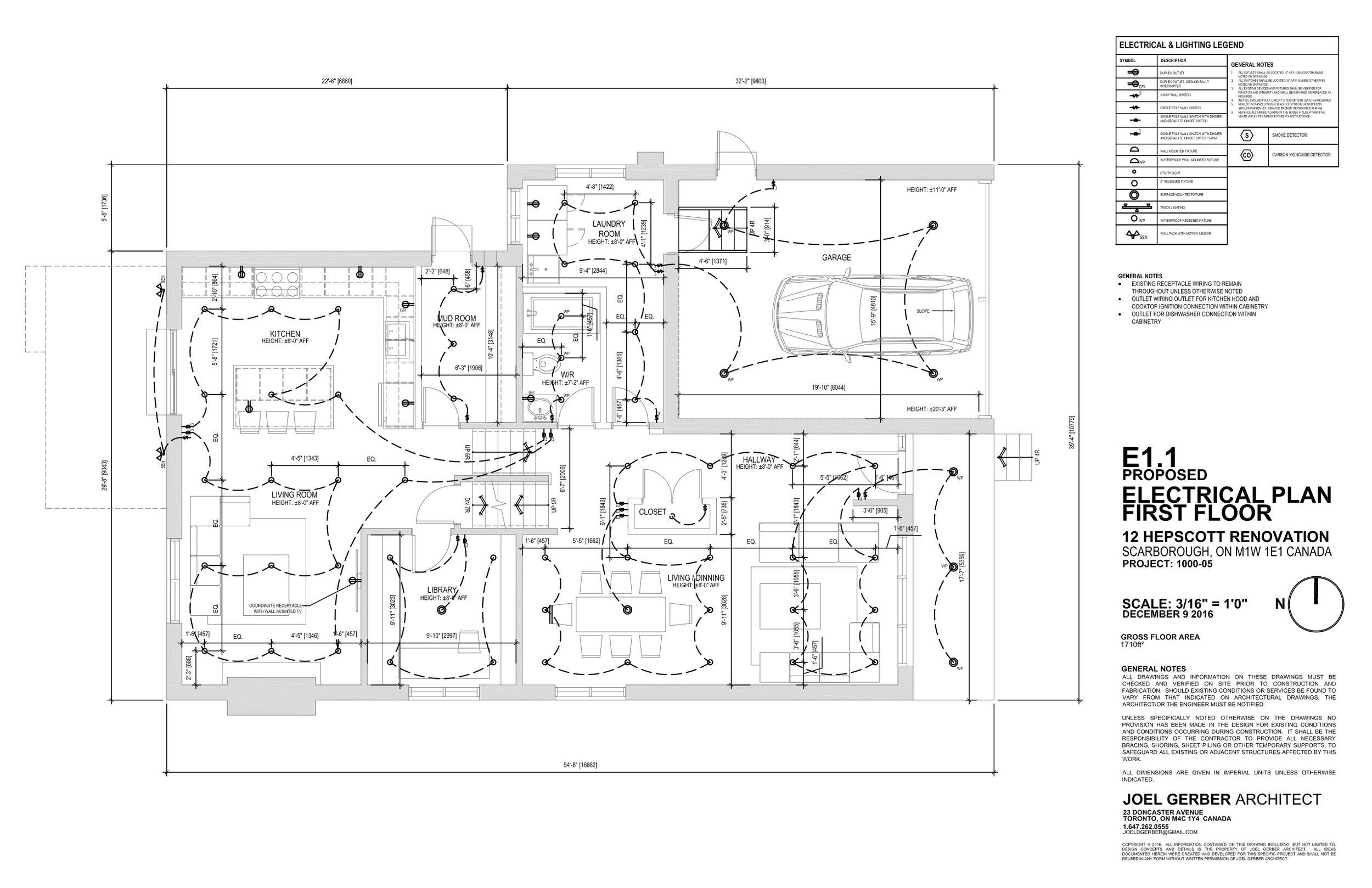 Drawing, Electrical Plan