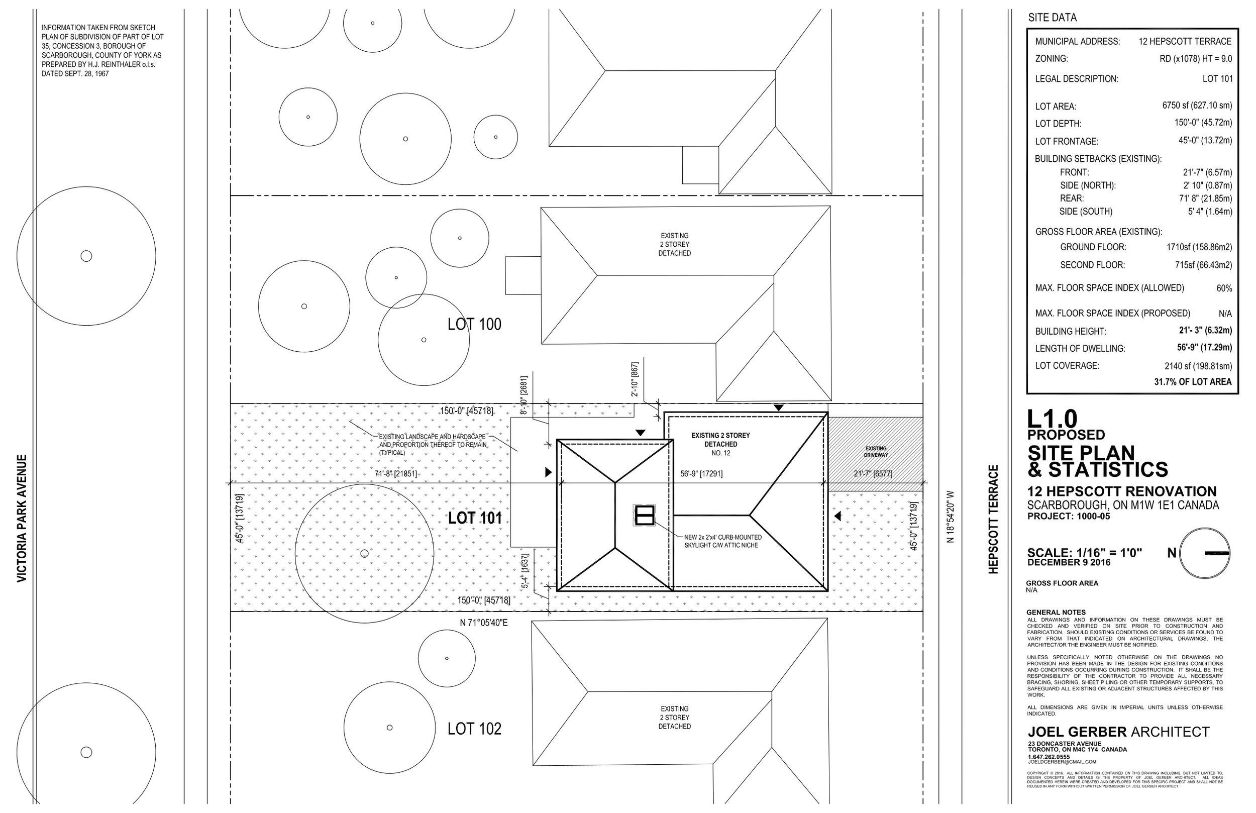 Drawing, Site Plan