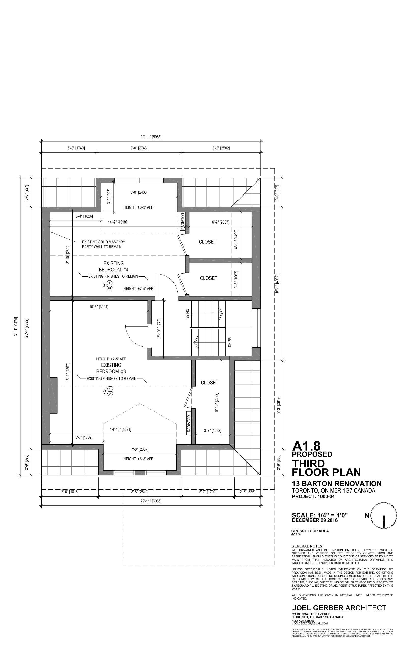 Drawing, Third Floor