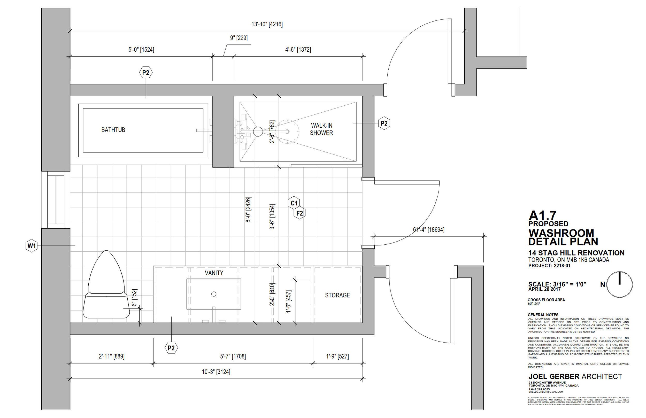 Drawing, Washroom Plan