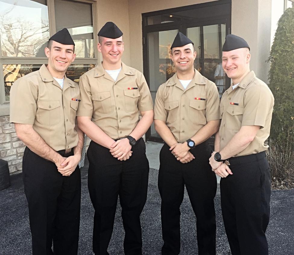 Nick's buddies after boot camp graduation