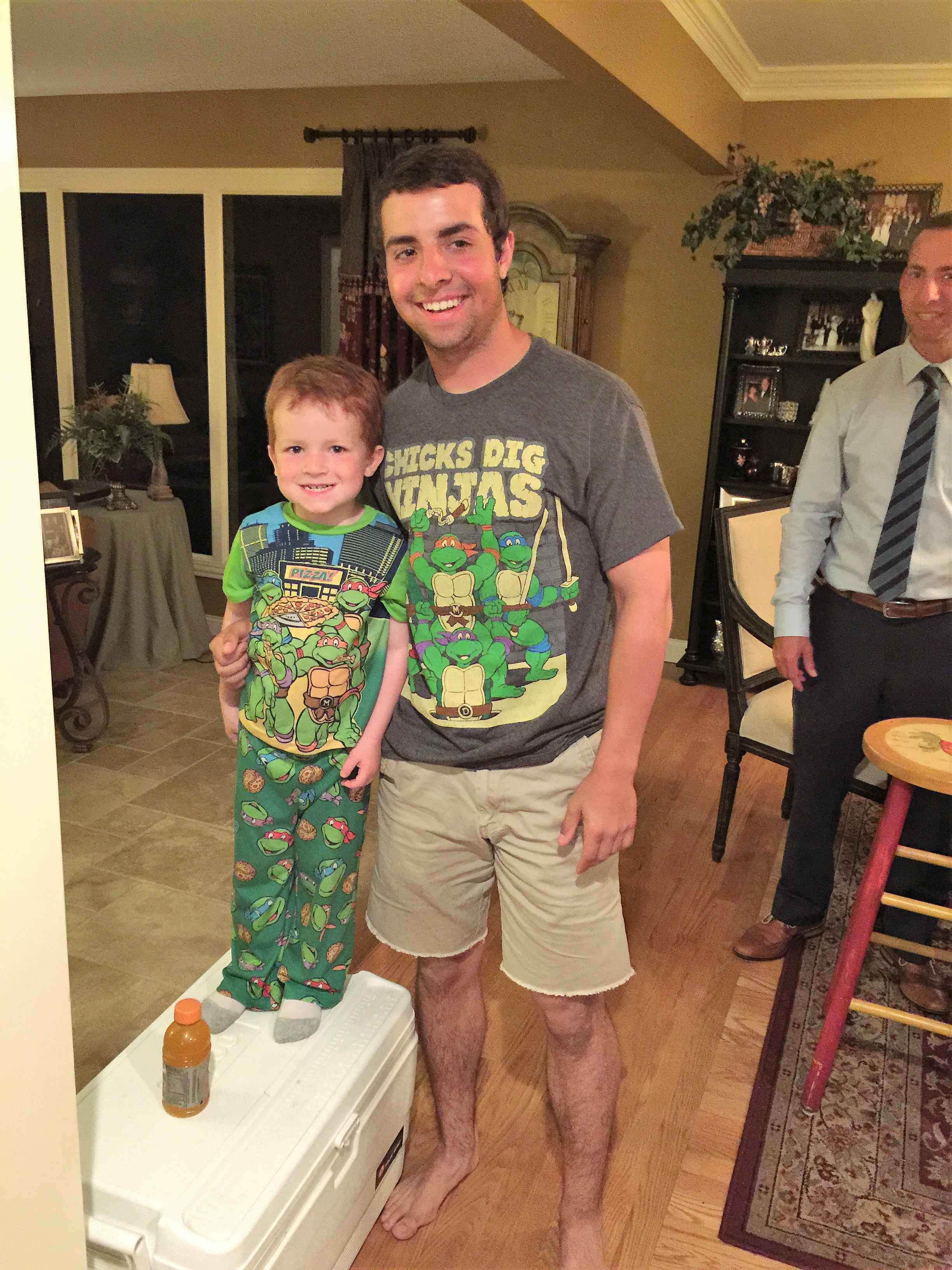 May 24, 2015. Nick with his cousin Jake Dunn. Nick loved hanging out with him.