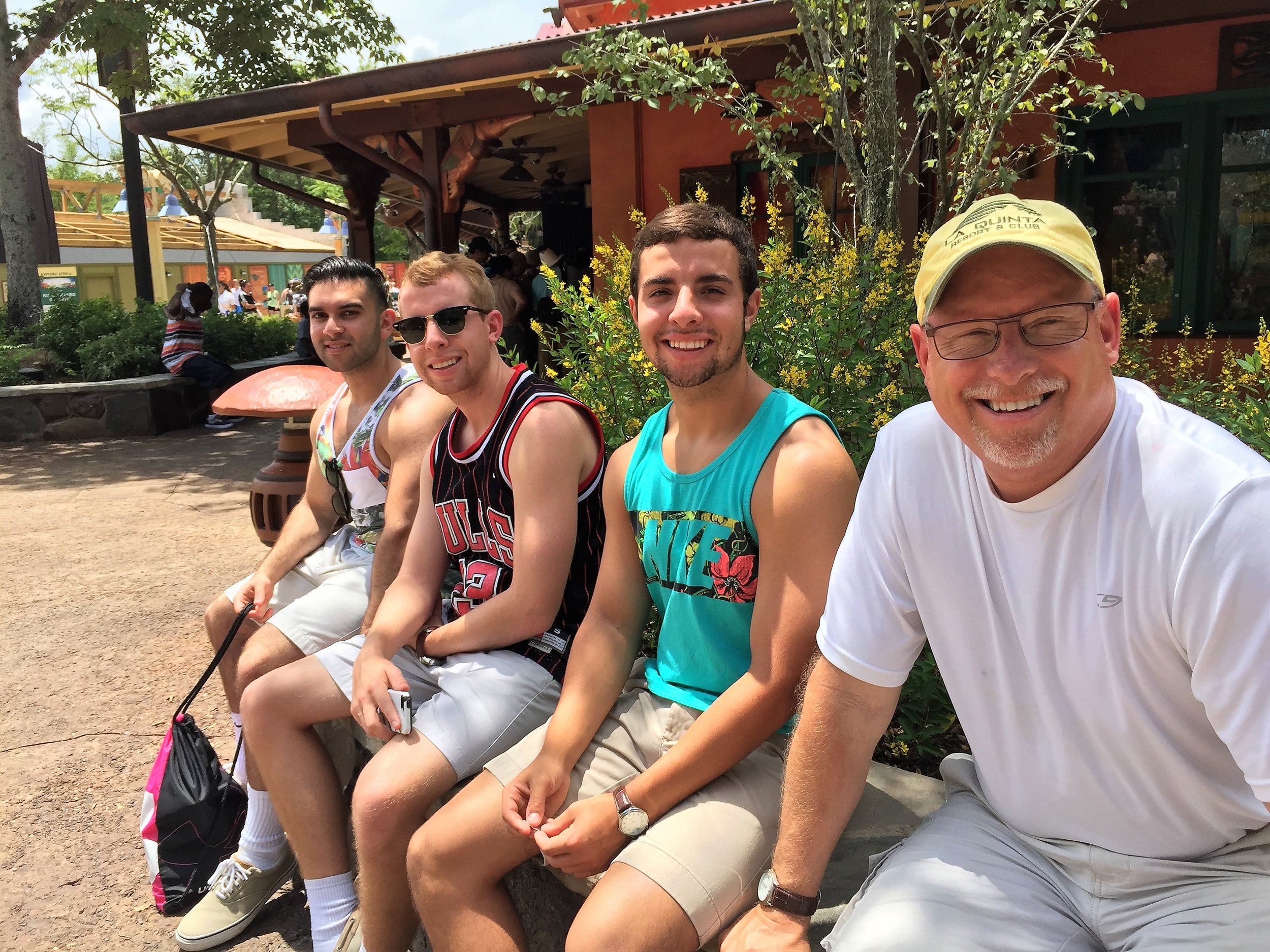 June 23, 2015. Family trip to Disney. Jhonny, Alec, Nick and Ed.