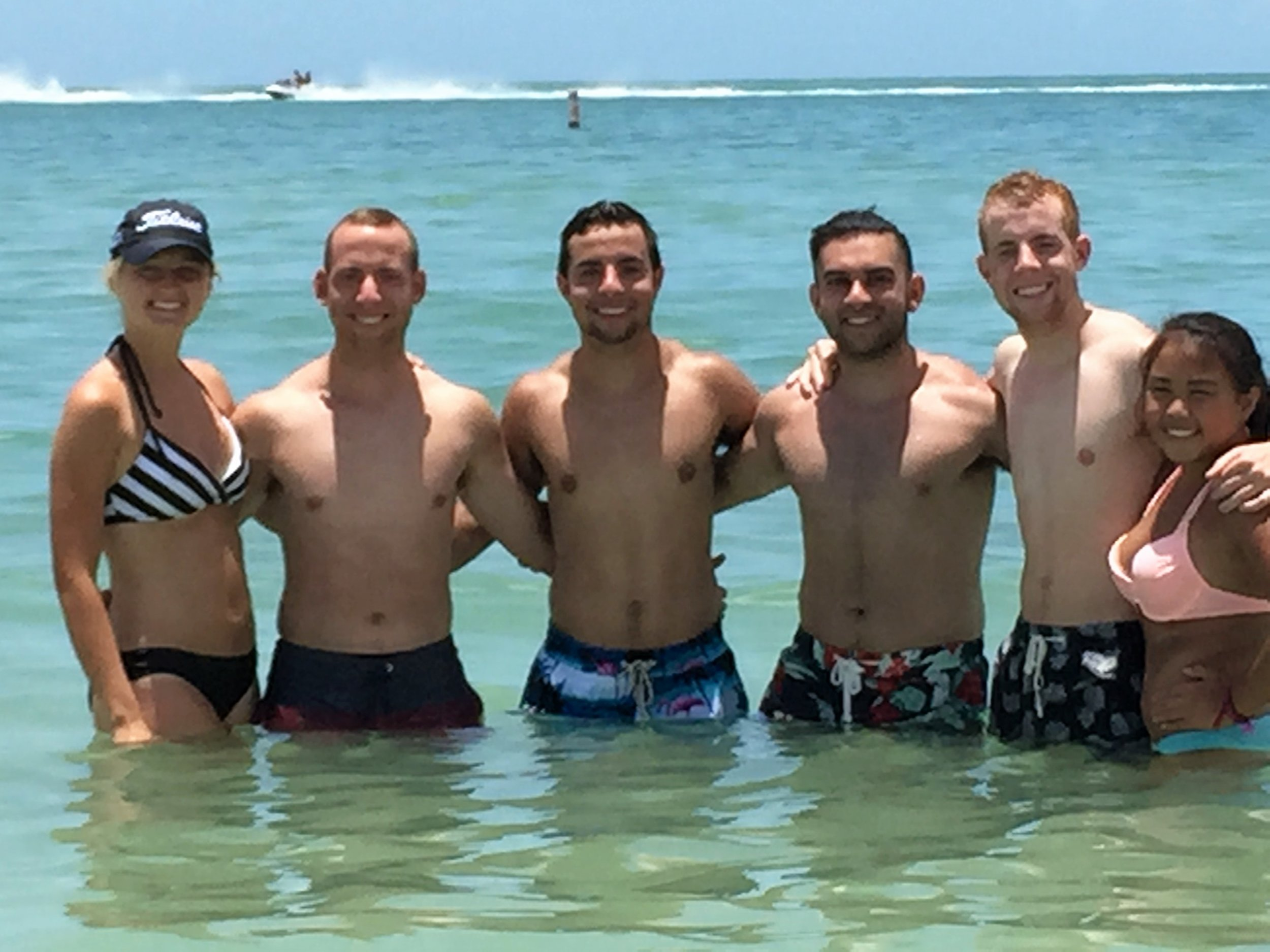 June 24, 2015 in Ft Myers Florida for family vacation. Maria, Grant, Nick, Jhonny, Alec and Laney.