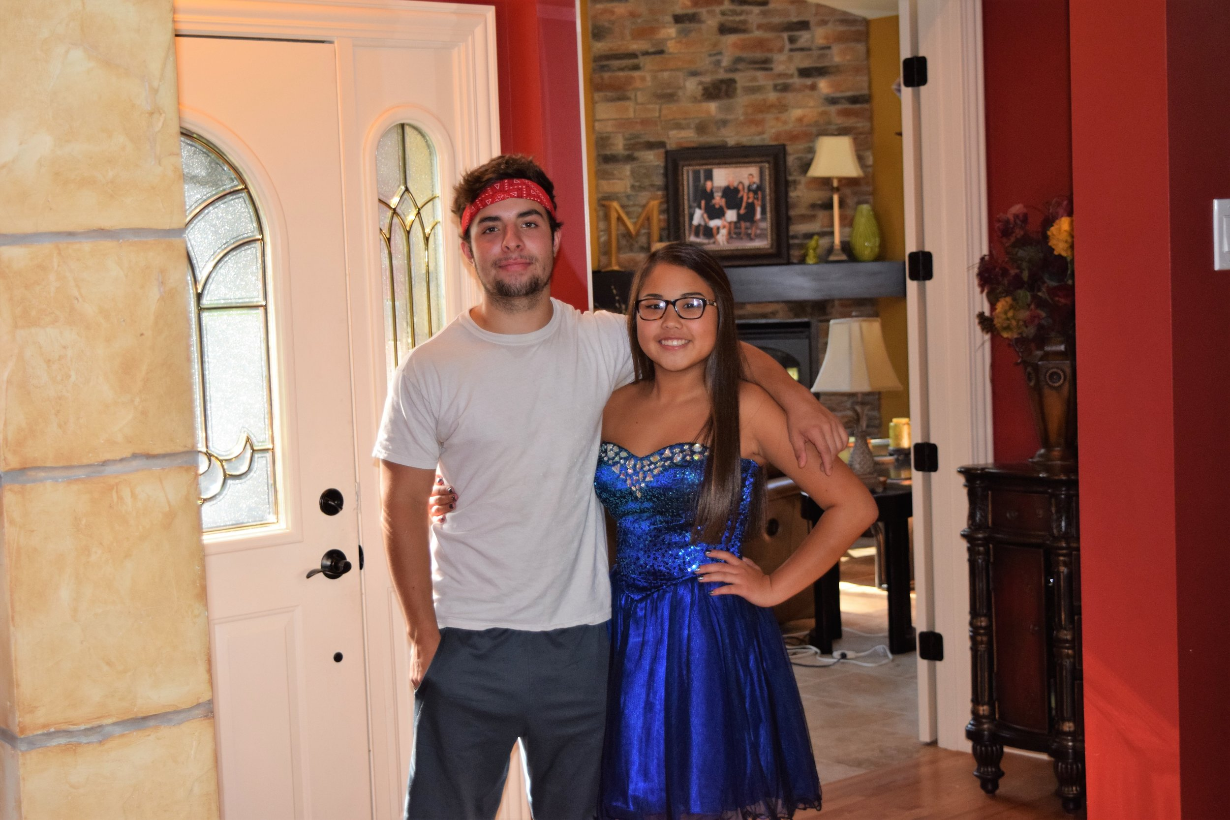 September 26, 2015. Nick with Laney right before her Homecoming dance.