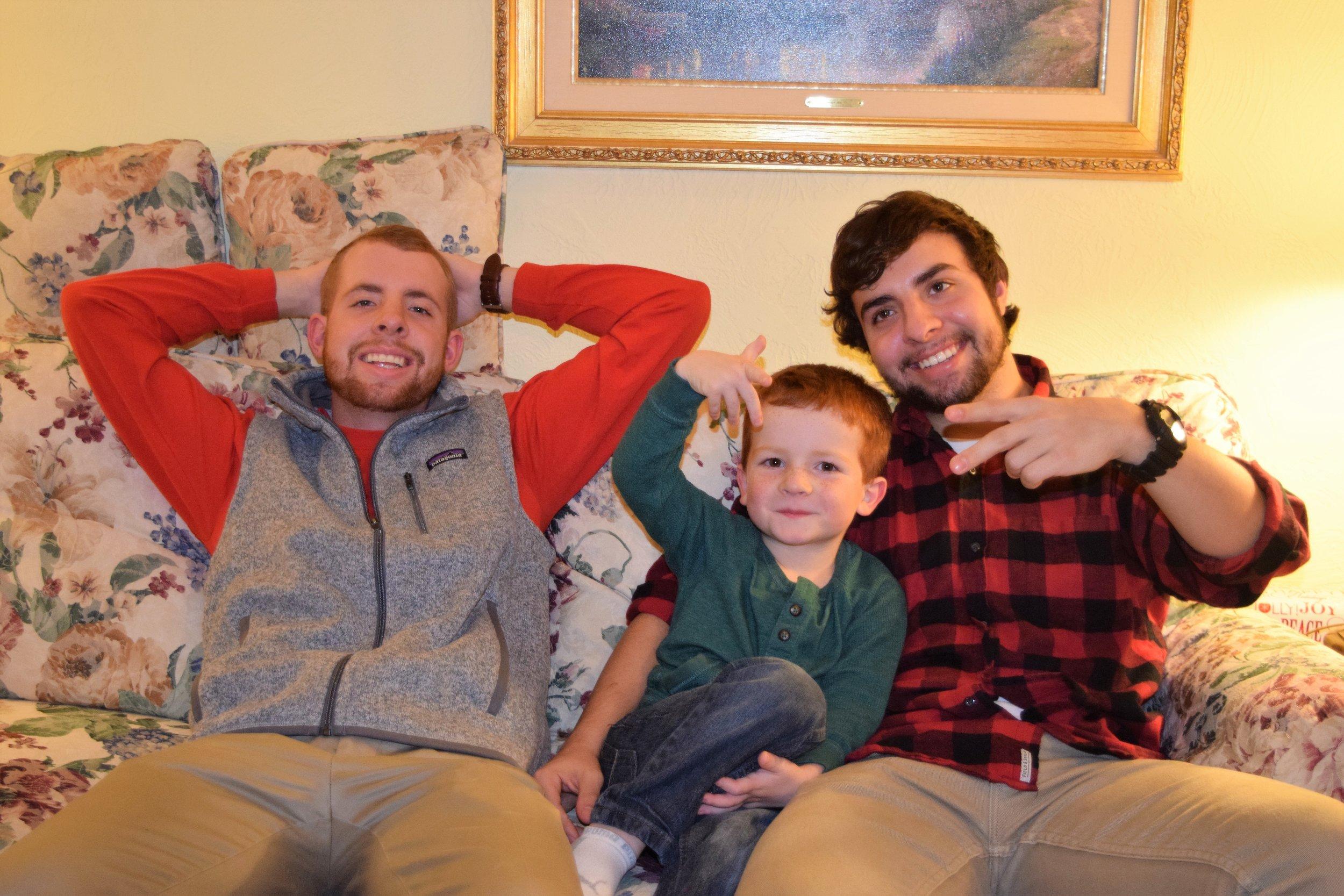 December 24, 2015. Alec, Jake Dunn, and Nick having fun.