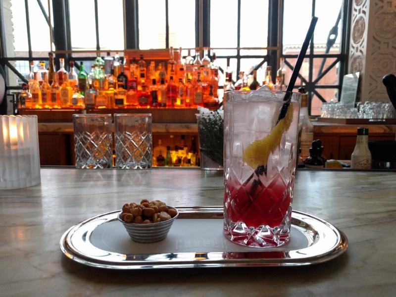 Cocktail at Cooper Lounge inside Crawford Hotel in Denver Union Station