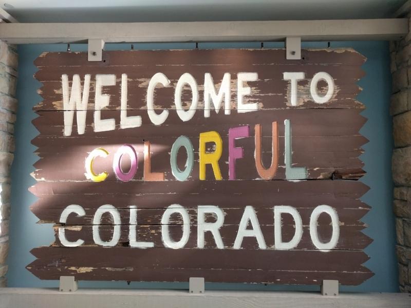 Welcome to Colorful Colorado sign in History Colorado Center in Denver
