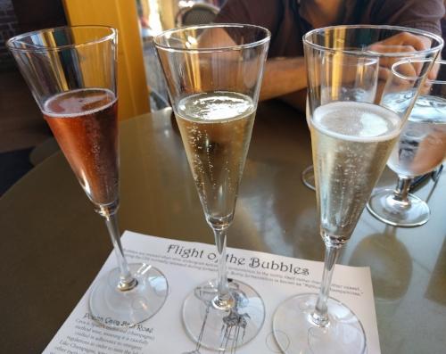 Flight of Bubbles at Sienna Wine Bar