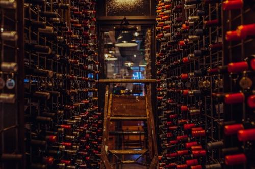 Wine cellar at Barcelona Wine Bar