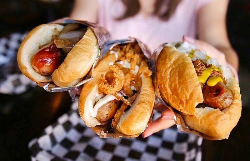 Biker Jim's gourmet hotdogs in Denver