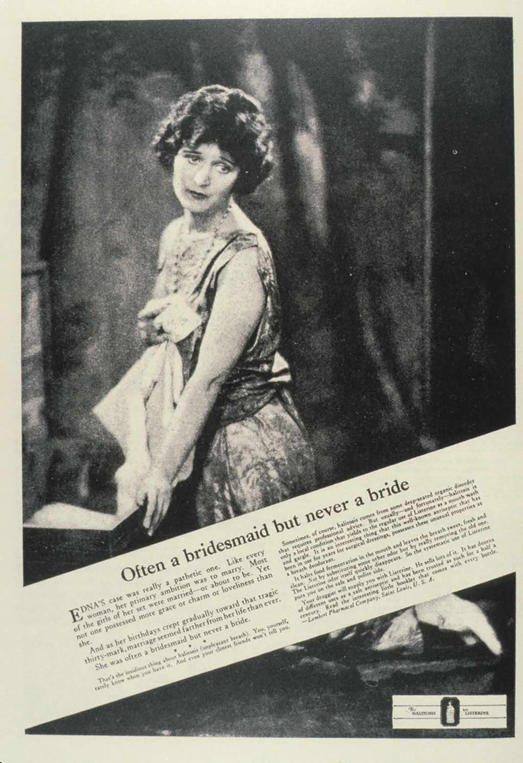 A Listerine print ad that helped popularize the expression. Photo credit:  AdAge