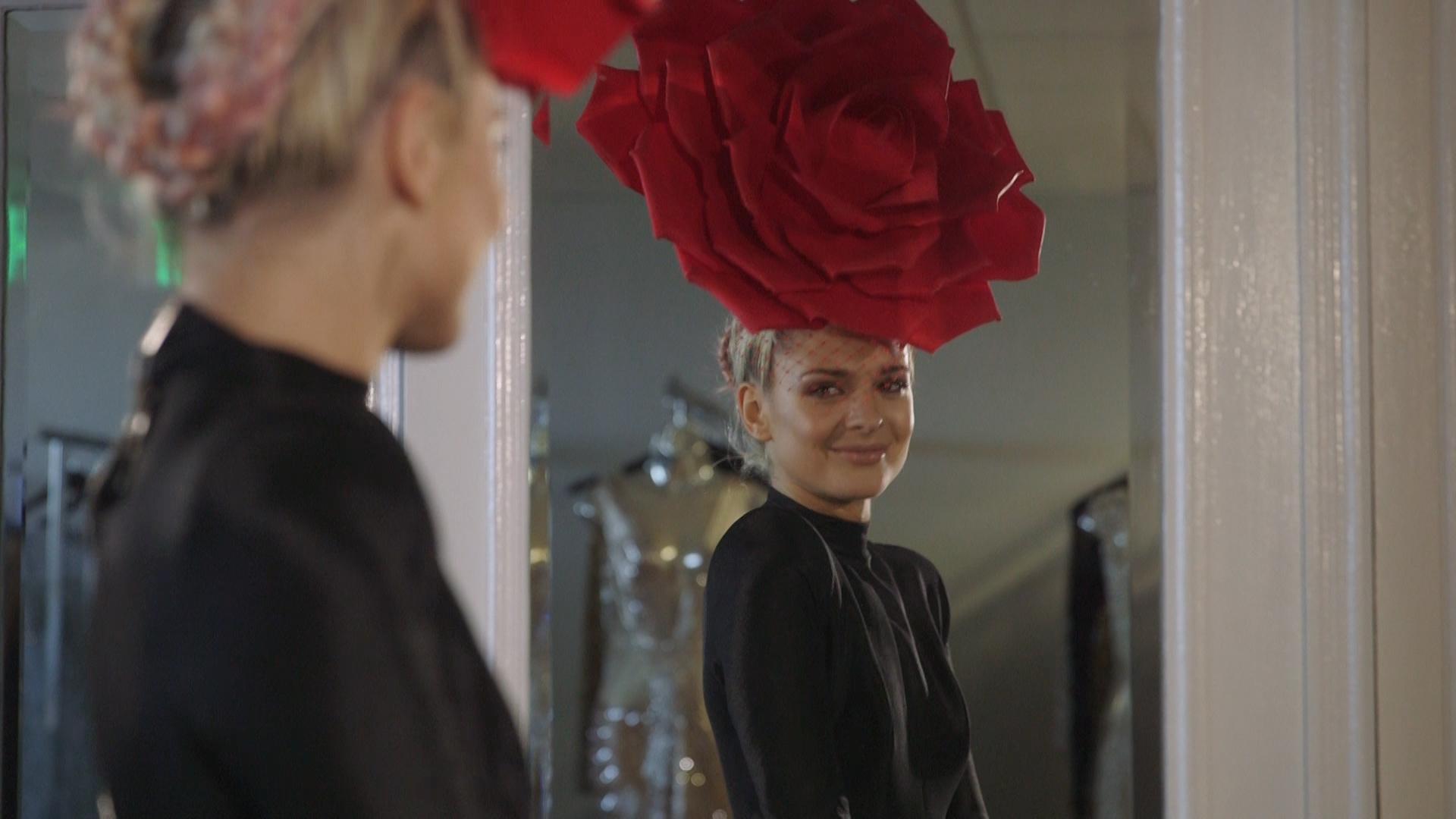 Arturo Rios Flower Hat Model Smiling.jpg