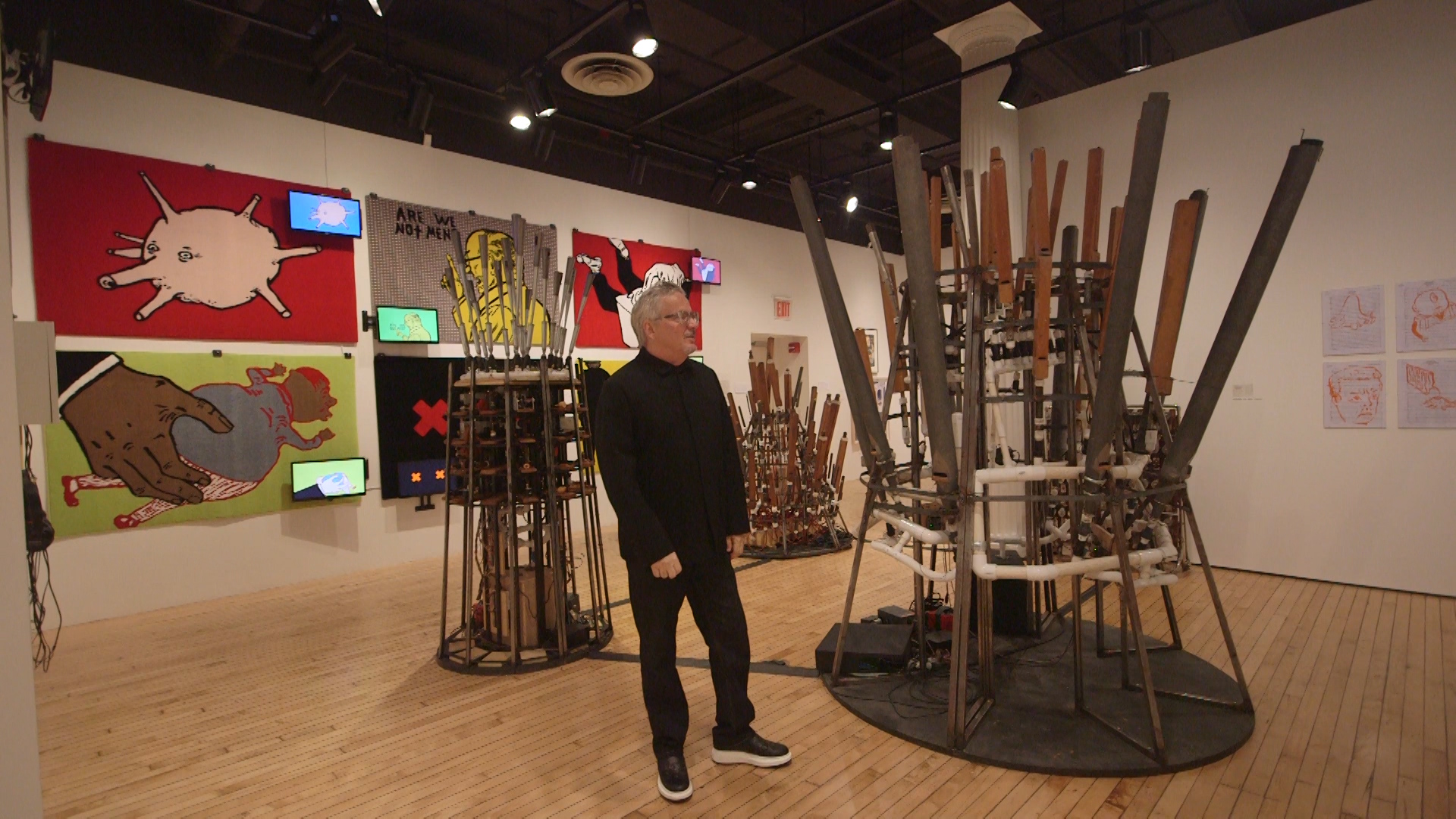 Mark Mothersbaugh with his orchestrions.jpg