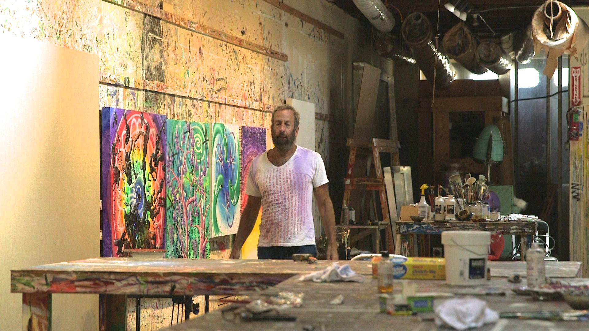Kenny Scharf in his studio.jpg