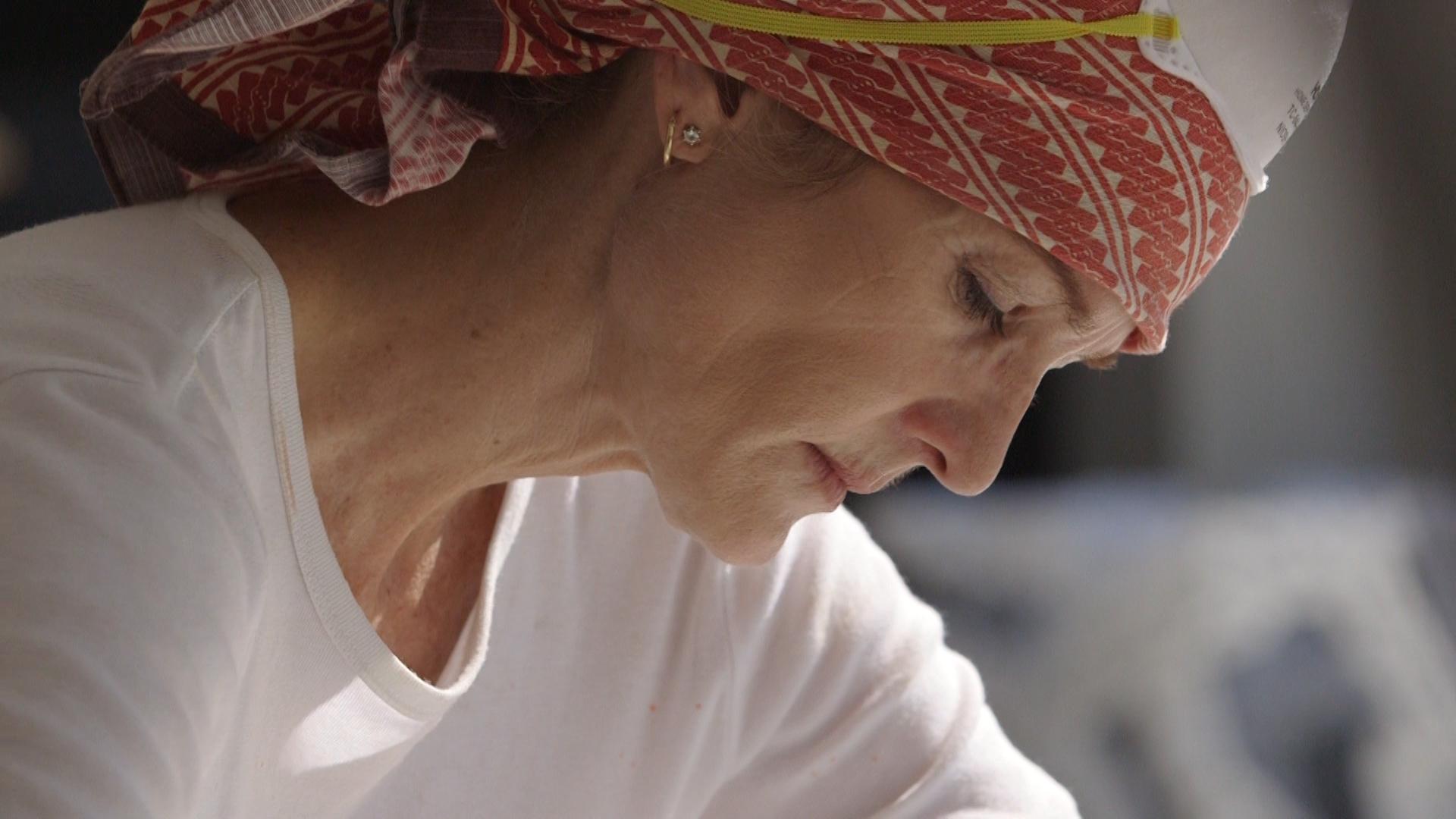 Elizabeth Turk concentrating on her work.jpg