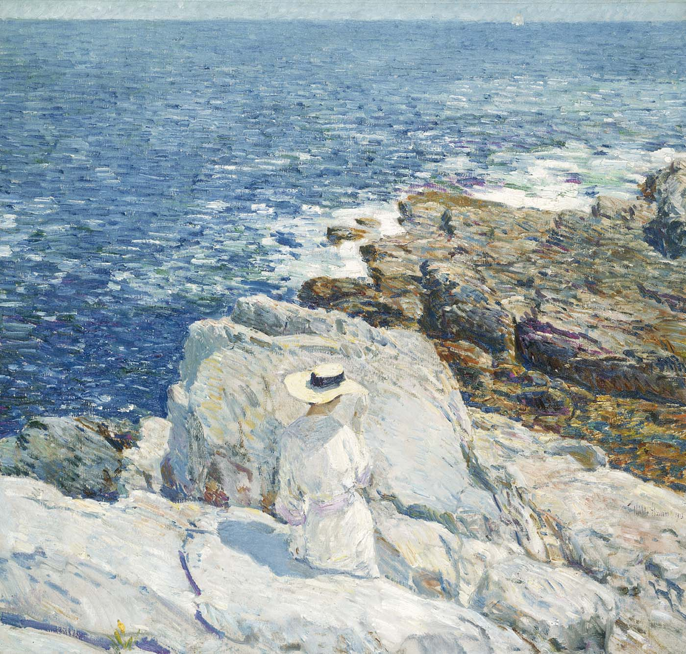 The South Ledges, Appledore , Childe Hassam (1913). Image credit:  Smithsonian .