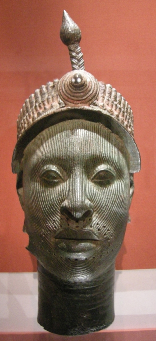 Bronze Head from Ife  (c. 14th century). Image credit:  I, Sailko,  CC BY-SA 3.0 ,