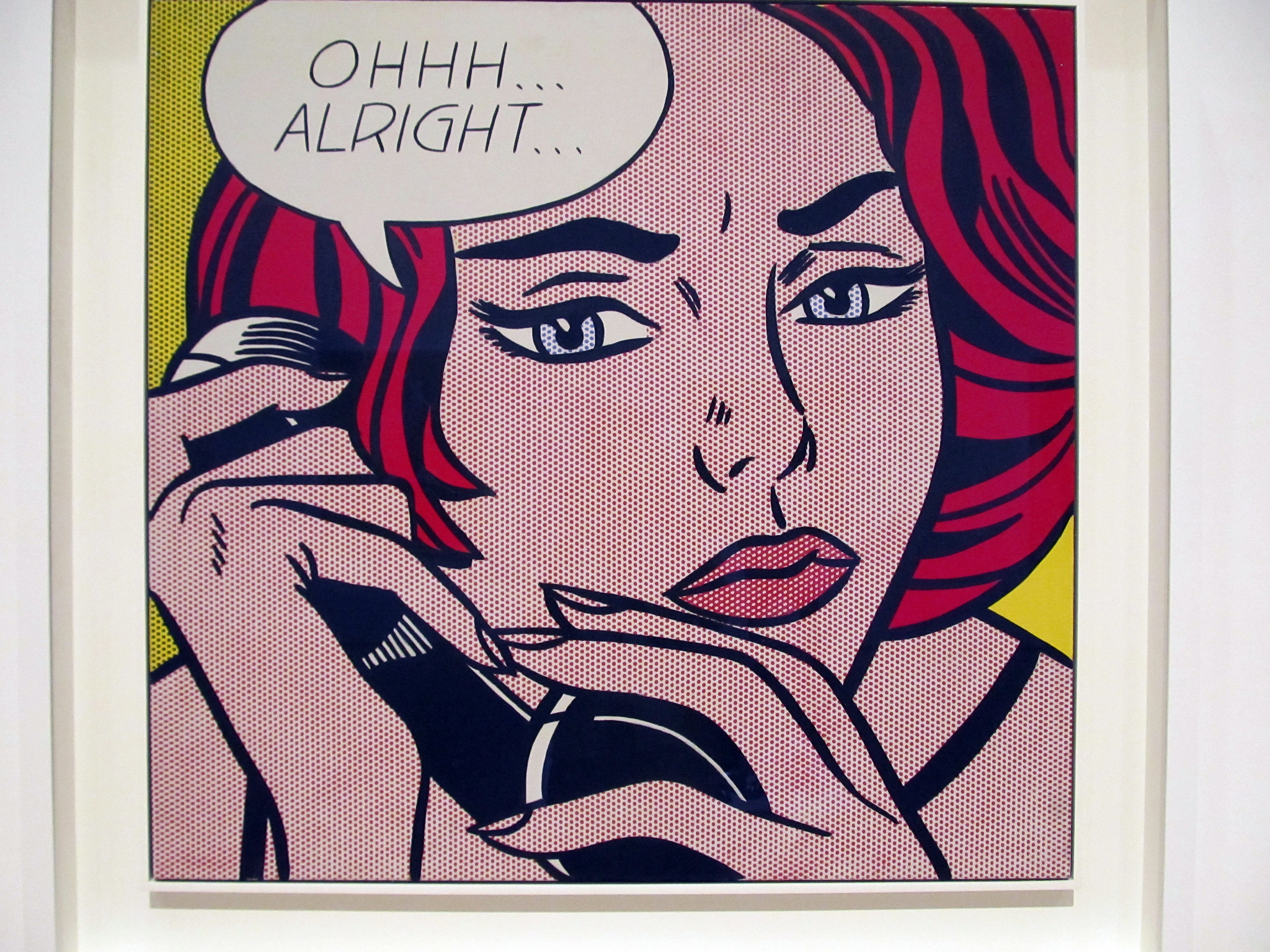 Ohh...Alright  (1964) by Roy Lichtenstein.  Photo by daryl_mitchell  /  CC BY 2.0 .
