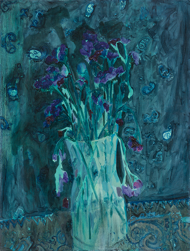 Flowers,  oil and acrylic on canvas, 30 x 39 inches, 2013