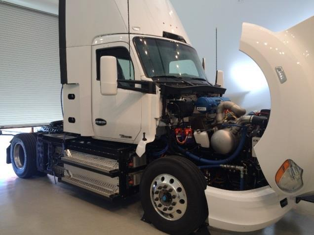 California Energy Commission sponsored Kenworth truck powered by the ICR350 turbine engine.