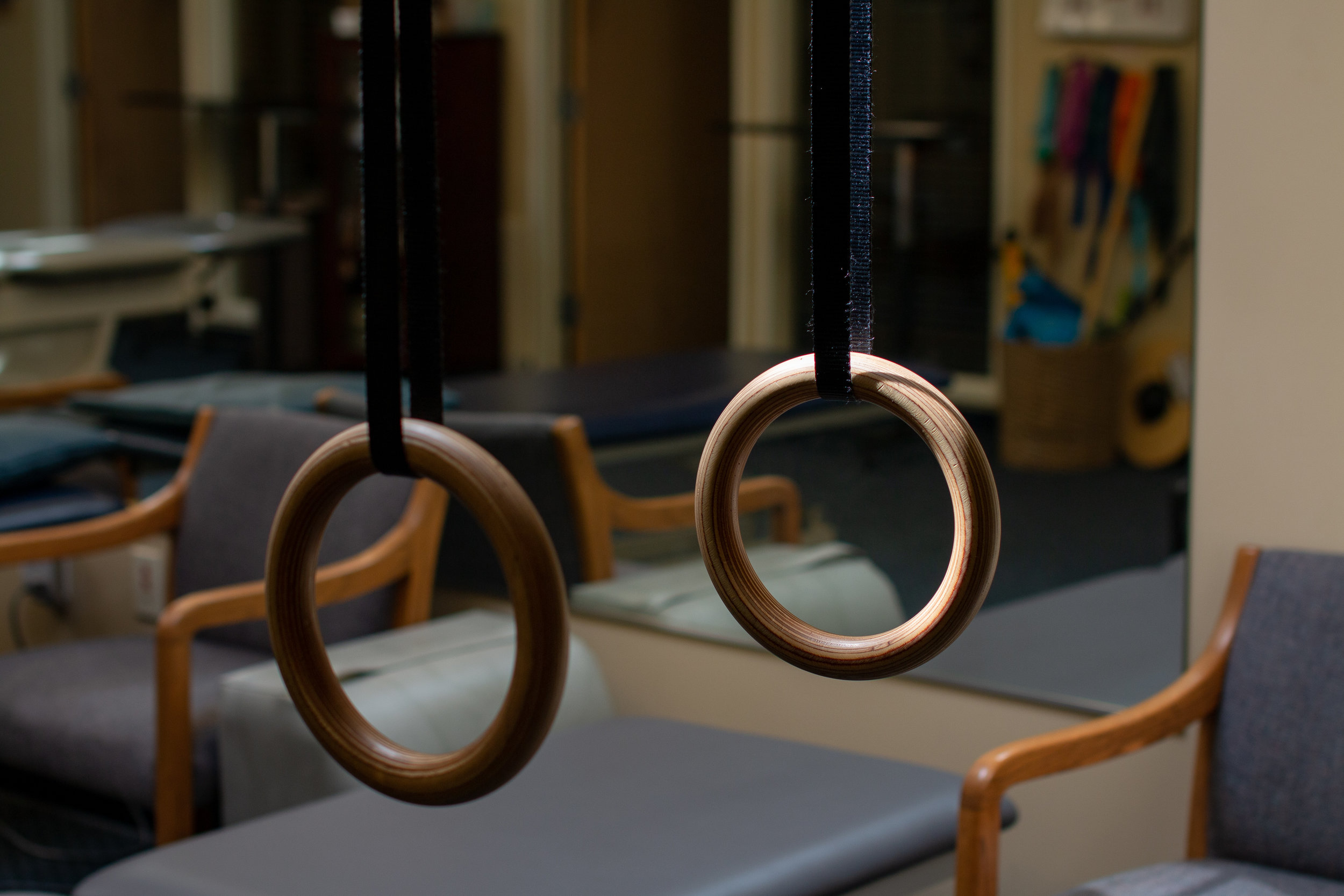 Wooden exercise rings